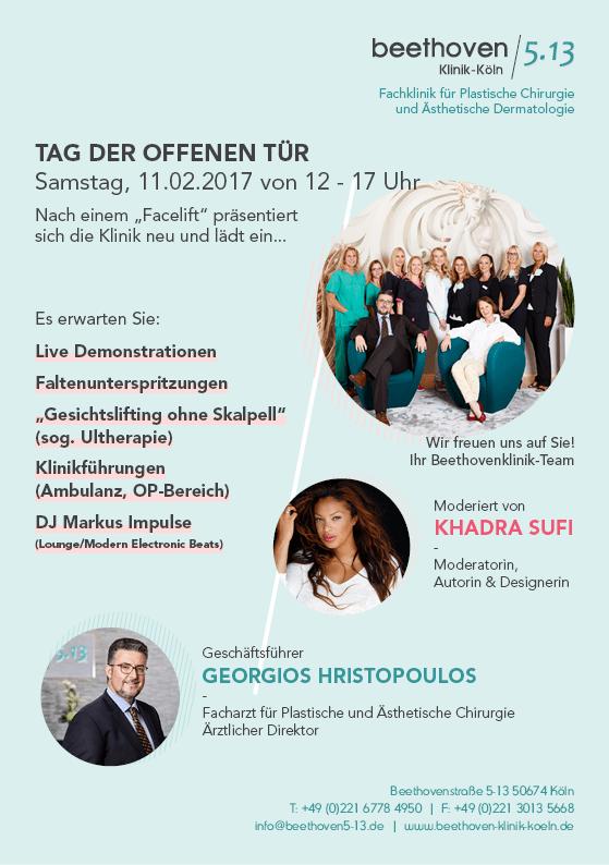 Klinik für Ästhetische und Plastische Chirurgie Köln Programm Tag der offenen Tür